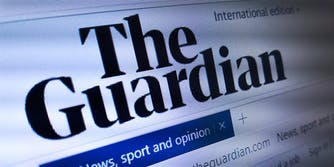Homepage of The Guardian