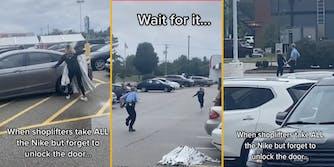 tiktok viral video shopflifter left by getaway driver