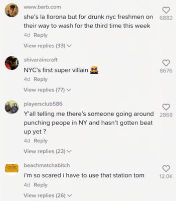 comments on tiktok