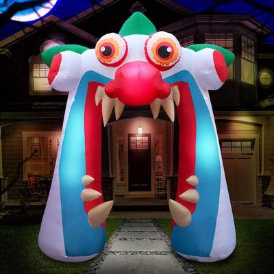 Enter the inflatable clown mouth with pointy teeth looking to scratch