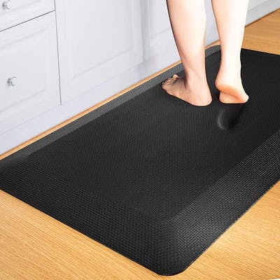 Someone standing on anti-fatigue mat in the kitchen