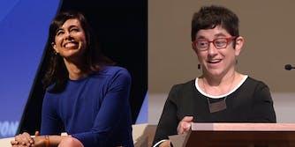 Jessica Rosenworcel (left) and Gigi Sohn (right), both were chosen by President Joe Biden to fill out the FCC.