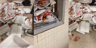 TikToker shows video of school hallways where students threw their luncboxes
