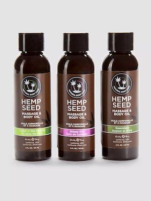 Best massage oils set of three hemp massage oils in brown bottles
