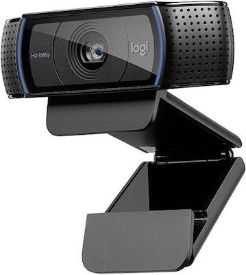 Black webcam sporting the Logitech logo