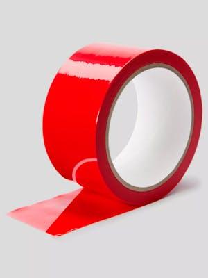 Roll of red bondage tape as a rope free bondage alternative