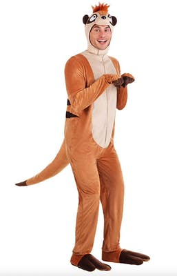Simon from the lion king onsie in best couples Halloween costumes
