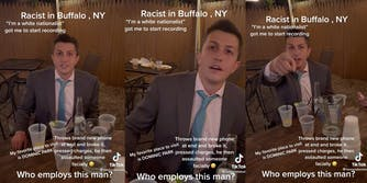 Racist man at wedding