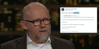 Rick Wilson next to a tweet from Jan. 6 Committee quoting him and saying 'this is all nonsense.'