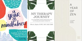 best therapy journals - three books my year of mindfulness, my therapy journey and a year of zen