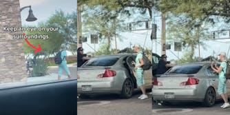 TikTok Creepy Car Woman