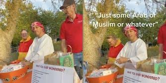 baptist church member dresses up as muslim stereotype