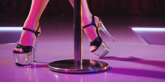 best places for online sex work clothers - feet in pleaser shoes dancing around a pole