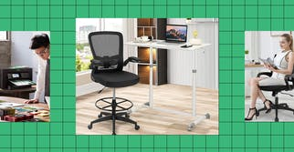 A collection of items for a great home office.