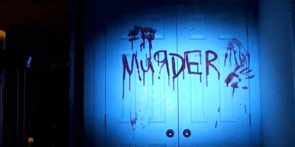 blood walls atmosfx dvd projected onto door