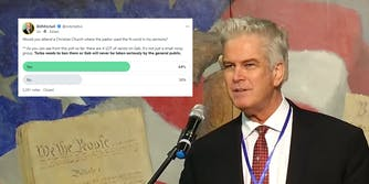 """Bill Mitchell with Gab poll about attending """"a Christian Church where the pastor used the N-word in his sermons"""""""
