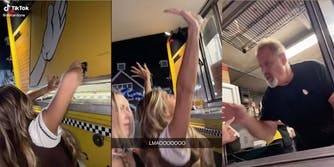 In a TikTok, a group of women are seen opening a food truck after it was closed.