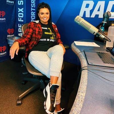 Joy Taylor wears Megan Reyes' diversity shirt