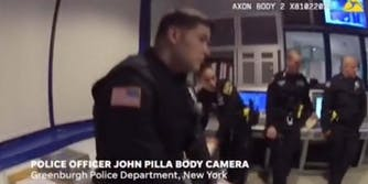 In bodycam footage, Greenburgh, NY police officers are seen laughing after Officer Kristin Stein was assaulted by a male colleague.