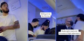 man yells at passengers and flight crew on united airlines flight