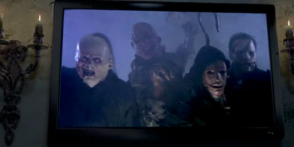 Night Stalkers AtmosFX DVD on a television