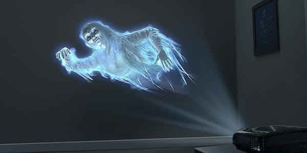 phantasm AtmosFX DVD projected onto white wall