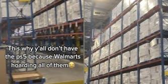 ps5s in walmart warehouse