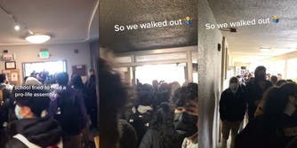 San Francisco high school walked out after their school organized an antiabortion assembly.