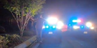 police surrounding tiktokers car