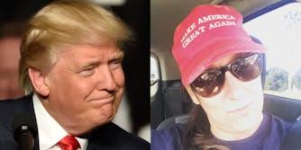 Donald Trump (l) Ashli Babbitt (r)