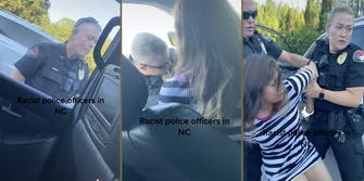 wake forest police arresting woman