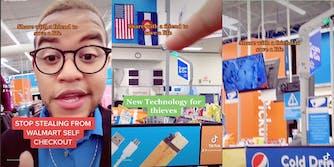 A TikTok shows new surveillance technology at a Walmart.