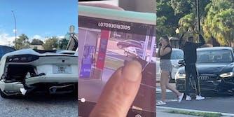 woman-rear-ends-lamborghini-and-blames-driver