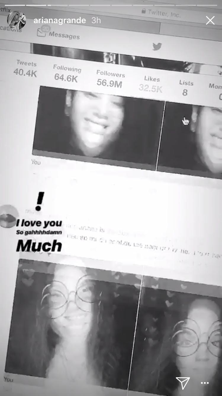 Ariana Grande instagram fans selfie