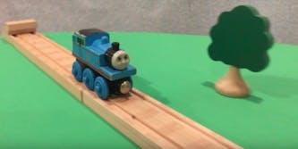 Thomas the wooden train