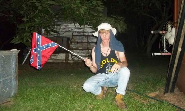 A photograph of Dylann Roof recently discovered online