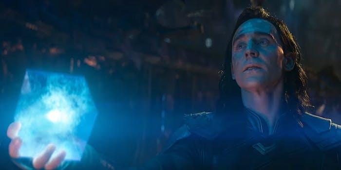 Loki holds the Tesseract in Avengers: Infinity War