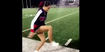 Texas high school cheerleader Ariel Olivar goes viral for posting her Invisible Box Challenge