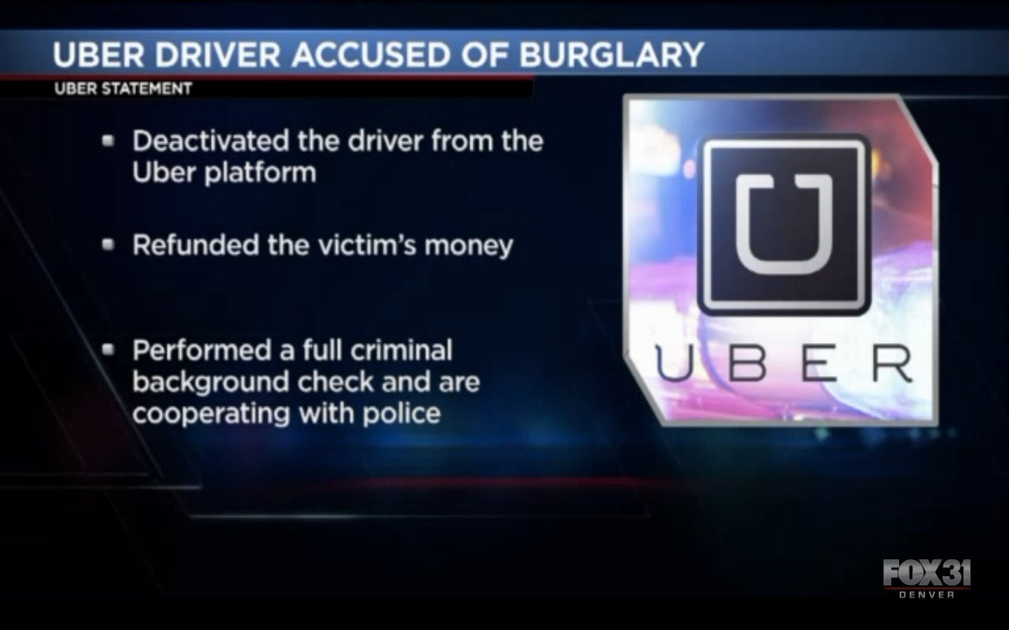 Uber swung into action as soon as it realized something was wrong.