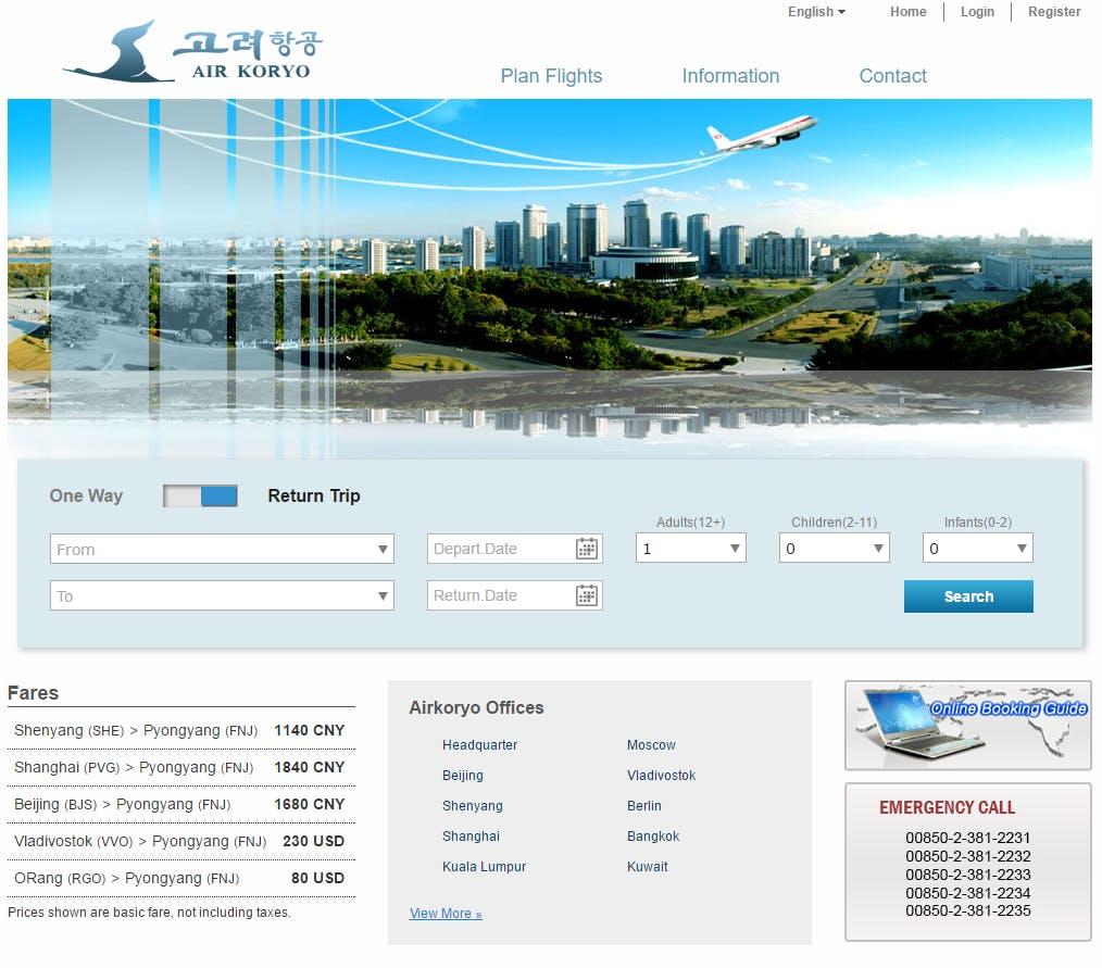 Air Koryo is North Korea's airline.