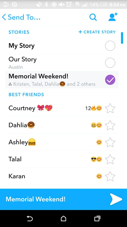 Custom Snapchat Stories