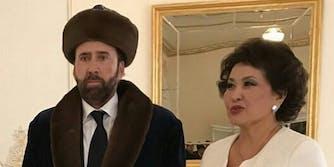 Nicholas Cage is Kazakh dress