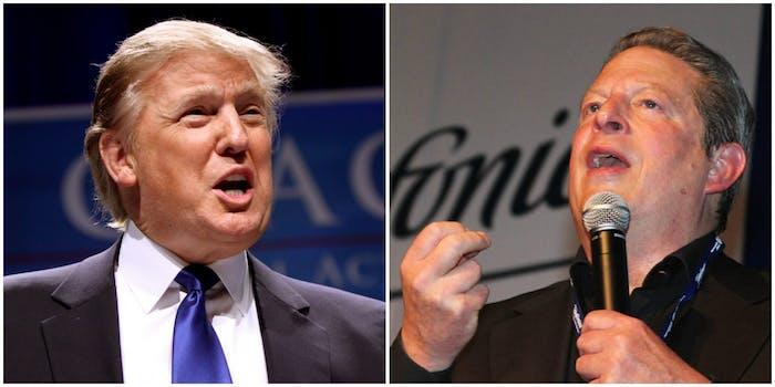 Donald Trump and Al Gore
