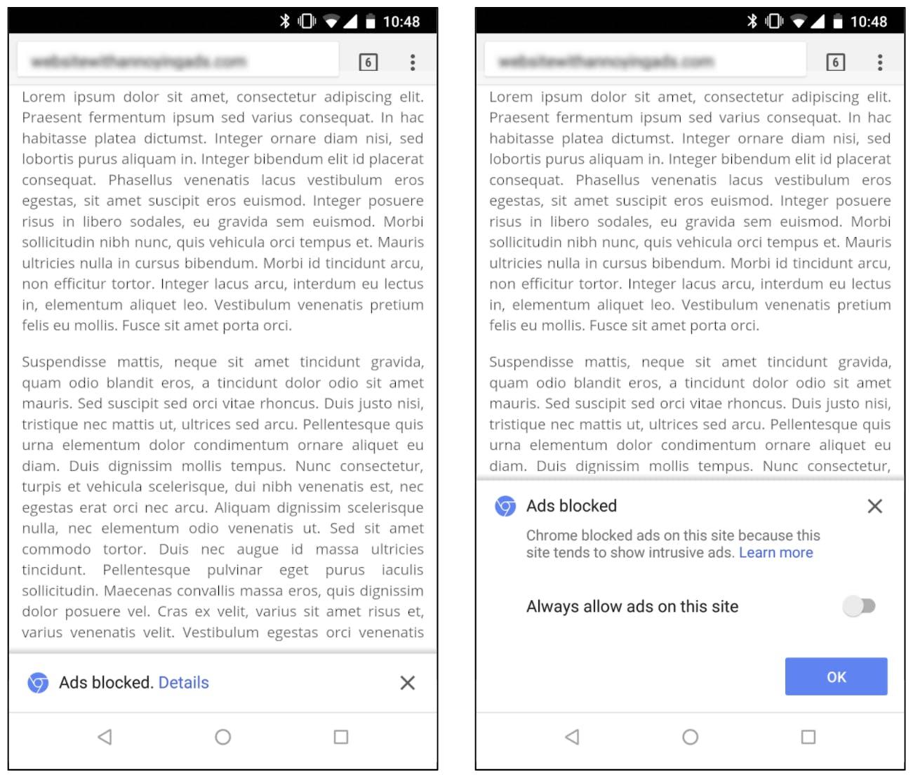 google chrome ad blocker : mobile