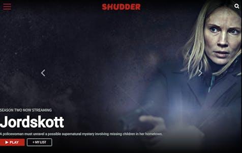 Menu of the best horror movie streaming site shudder