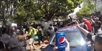 Pepsi at protest