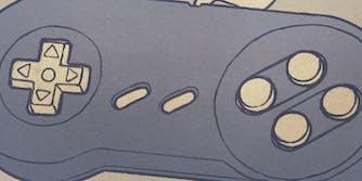 snes controller illustration
