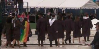 Notre Dame graduation student walkout