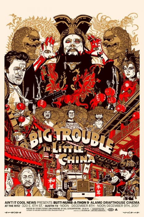 Big Trouble in Little China by Tyler Stout print Mondo.