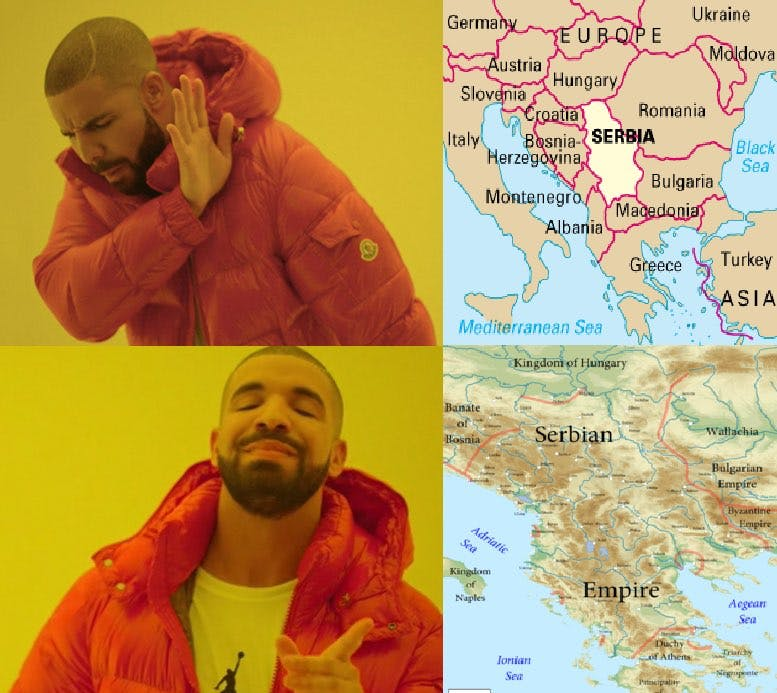 drake likes old serbia